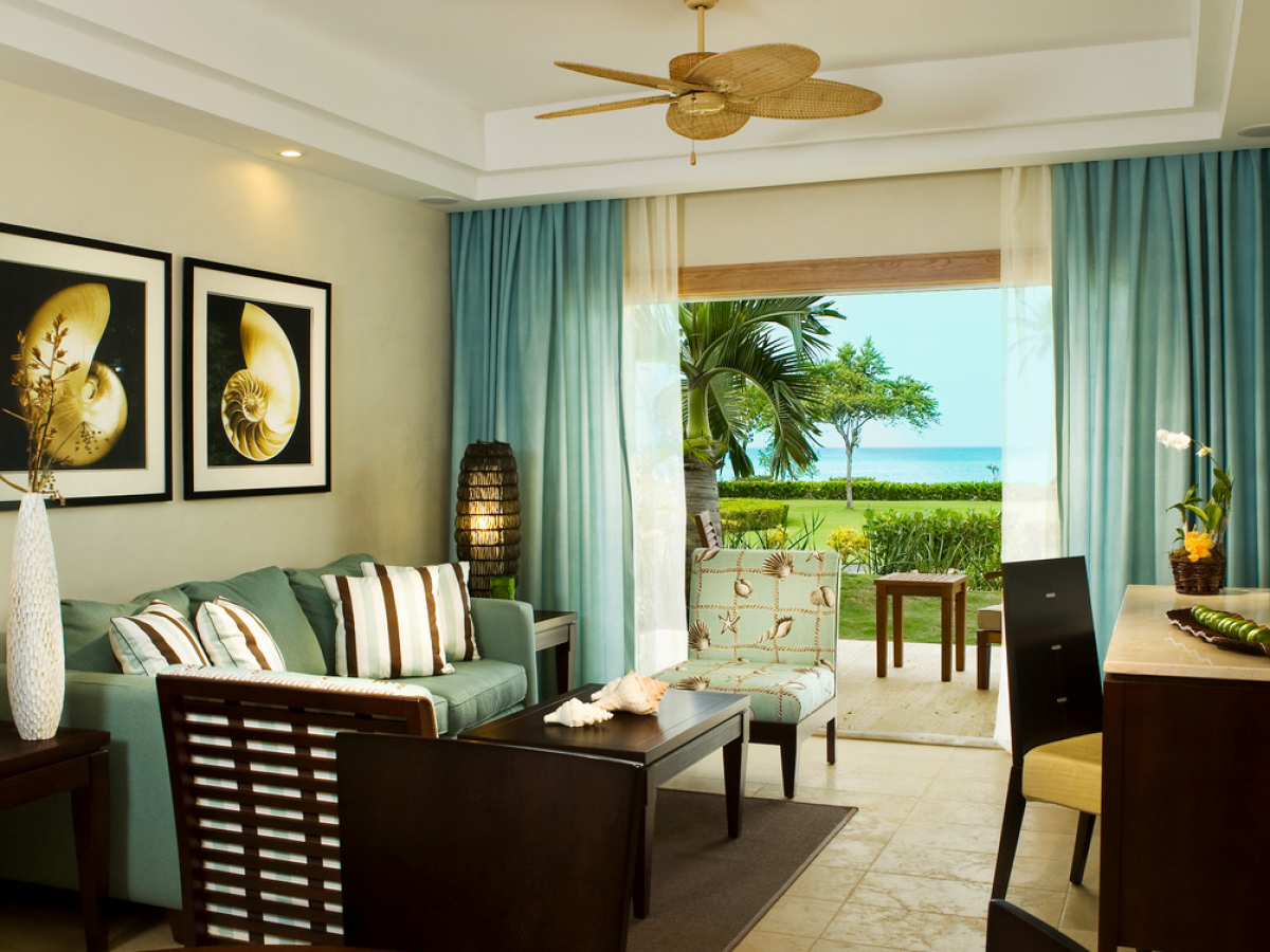 Hilton La Romana Family Resort Premium Master Suite One King Bed Living Area jpg