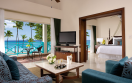 Hilton La Romana Family Resort Premium Suite Ocean Front King Living Area