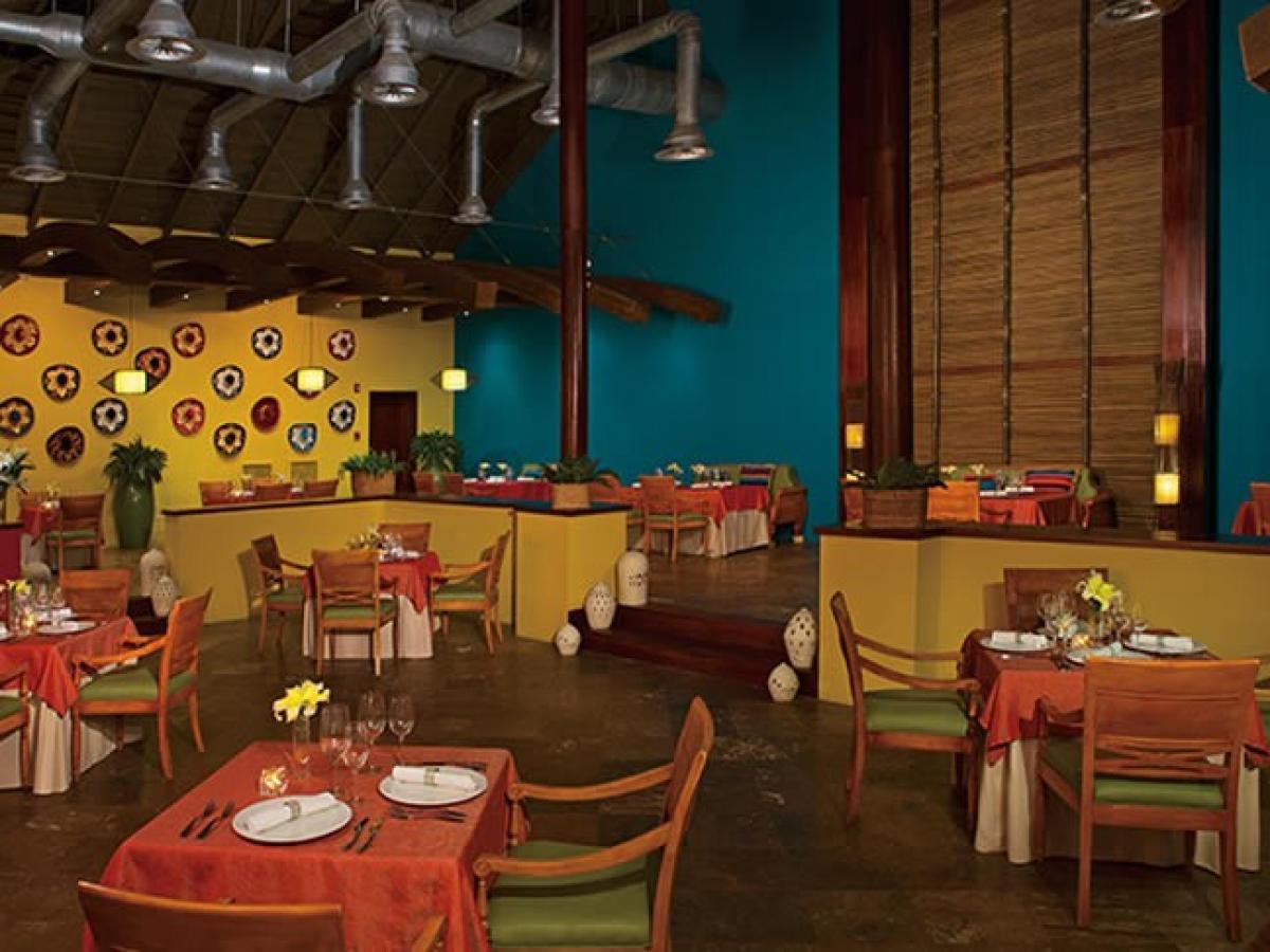 NOW Garden Punta Cana Dominican Republic - WIndows Buffet