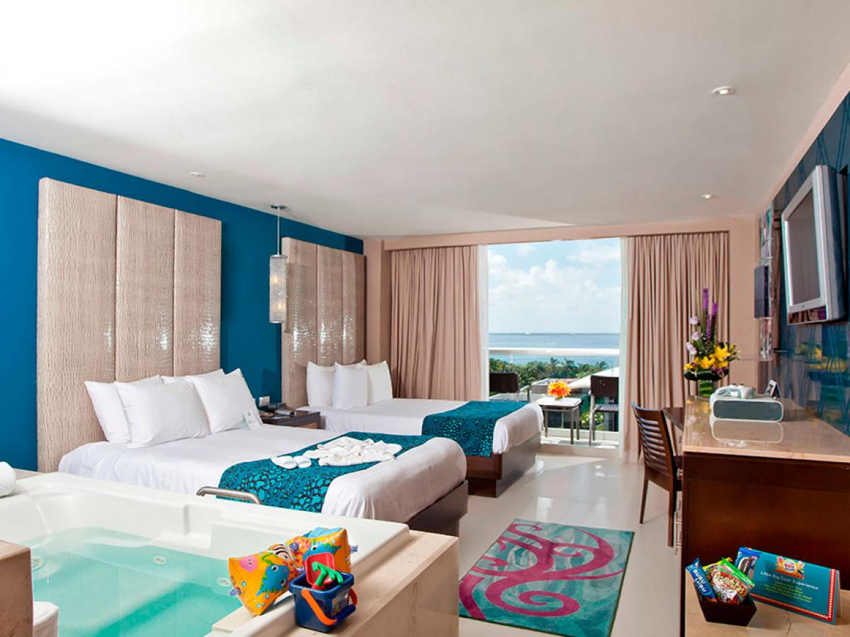 Hard Rock Cancun Mexico - Deluxe Family 2 Rooms Connecting