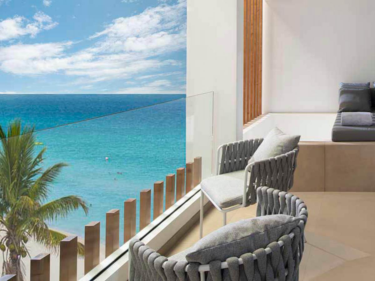 Majestic Elegance Costa Mujeres One Bedroom Suite Outdoor Jacuzzi Balcony
