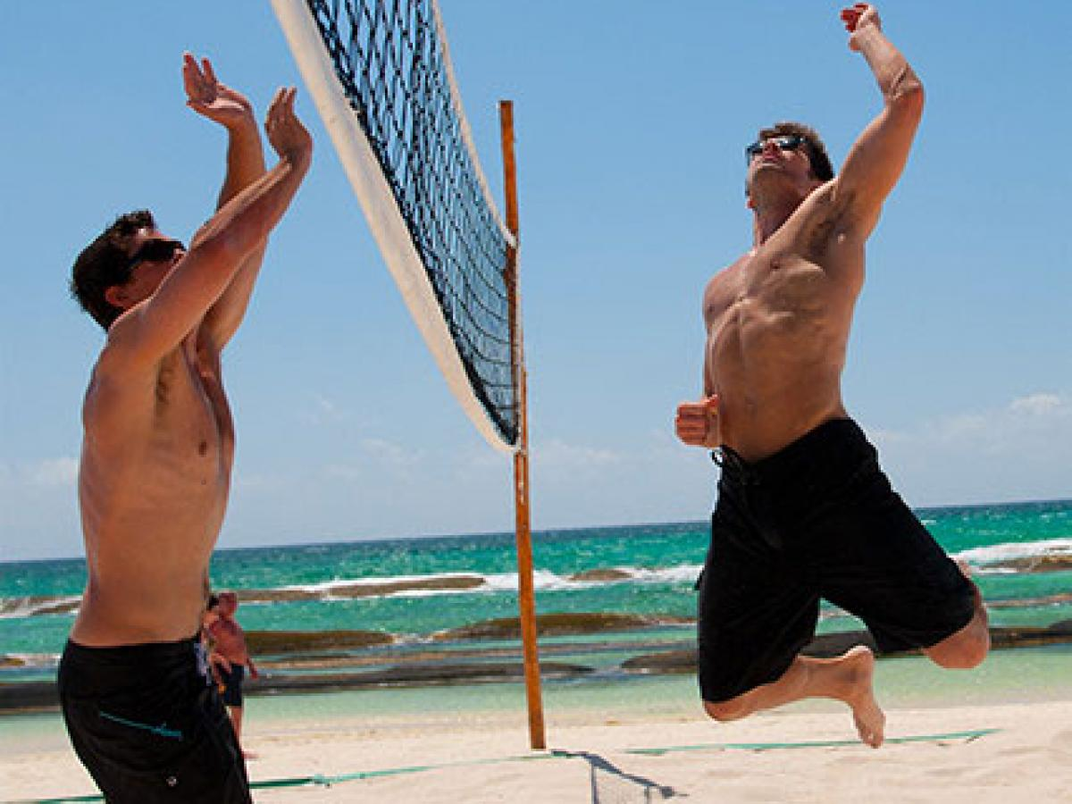 Azul Beach Hotel Riviera Maya Mexico - Volley Ball on the Beach