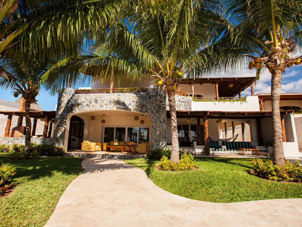 Villa Carola Riviera Maya Mexico Back jpg