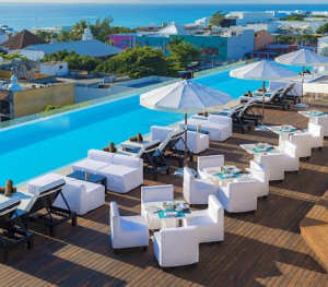 The Fives Downtown Playa Del Carmen rooftop pool